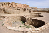 Pueblo Bonito ruins, Chaco Canyon, New Mexico (USA) poster