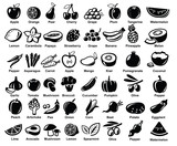 vector fruits and vegetables