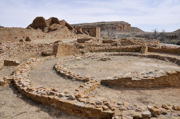 Pueblo del Arroyo ruins, Chaco Canyon, New Mexico (USA)