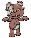 Vector illustration of Evil teddy bear