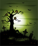 Greeny Halloween background eps 10