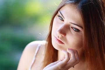 sad girl closeup