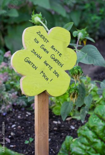 Audruck der Freude am eigenem Garten
