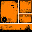 Multiple orange Halloween banners and backgrounds eps 10 - 55593567