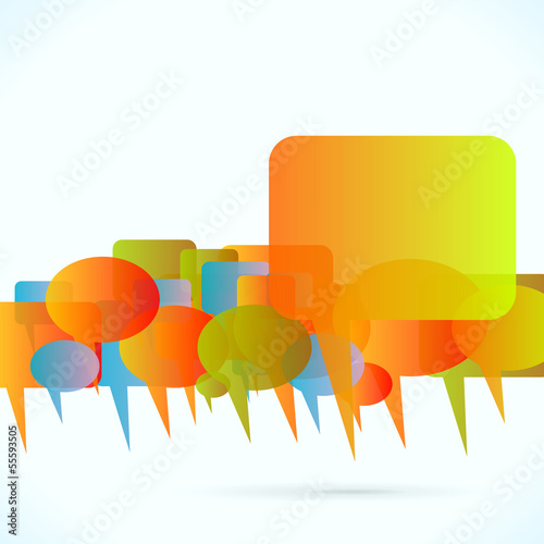 Communication abstract vector background illustration