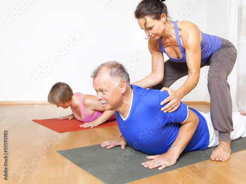 Tuinposter Gymnastiek Yoga Exercise