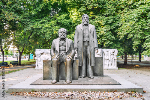 Marx and Engels statue in Marx-Engels-Forum, Berlin
