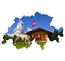 Almhütte mit Matterhorn