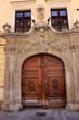 Historische Fassade in Bratislava