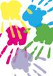 canvas print picture - Handabdruck, Farbe, Hand, Transparent, Hintergrund