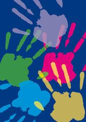 Handabdruck, Farbe, Hand, Transparent, Hintergrund