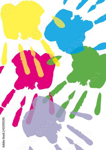 canvas print picture Handabdruck, Farbe, Hand, Transparent, Hintergrund