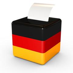 Wahlurne Bundestagswahl
