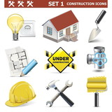 Vector Construction Icons Set 1