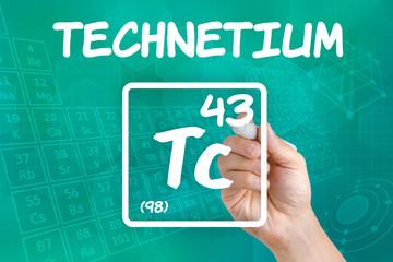Symbol für das chemische Element Technetium