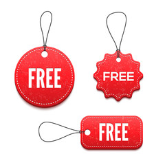 3D free badges set for your design