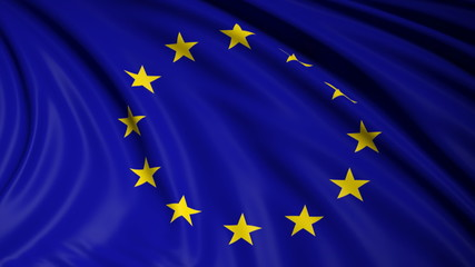 European Union flag waving