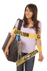 caution shopper wrapped smirk