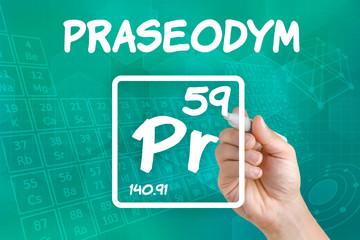 Symbol für das chemische Element Praseodym