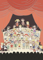 Funny school choir singing poster