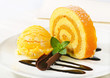 Swiss Roll with yellow sherbet