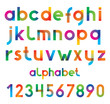 Colorful  font and numbers.