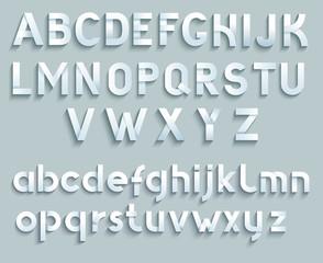 Paper vector font.