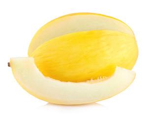honeydew melon isolated on white background