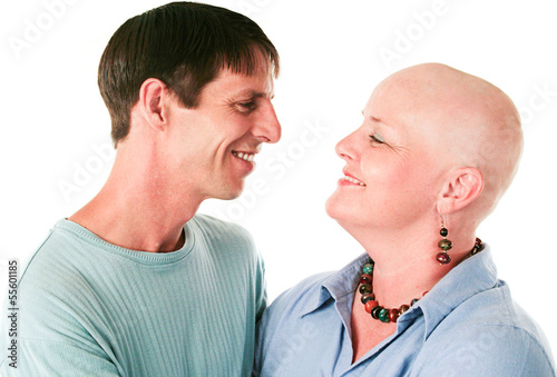 Cancer Patient and Husband In Love