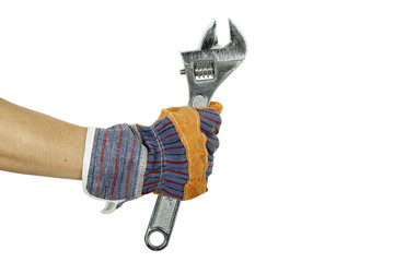 hand with spanner