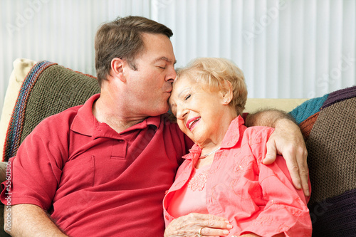 Caring For Elderly Mother Poster