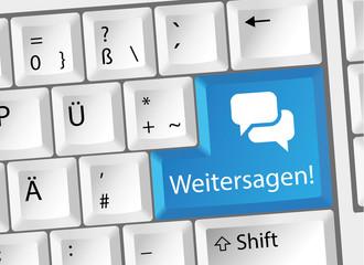 Weitersagen / Share Tastatur Deutsch