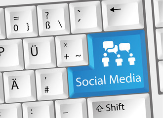 Social Media / Virales Marketing Tastatur Deutsch