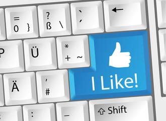 I Like / Gefällt mir / Social Media Tastatur Deutsch