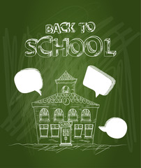 Back to school text house social media bubbles EPS10 file.