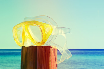 scuba mask. summer is over