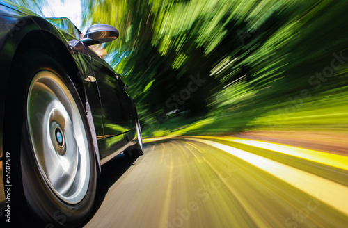 Sport car speeding.
