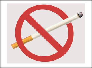No Smoking cigarette