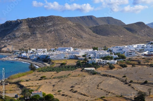 Las negras, a small traditional coastal town in Andalusia, in th