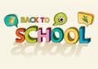 Back to school colorful social media bubble education icon.