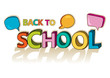 Back to school colorful text social speech bubbles.