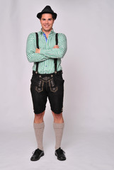 Bavarian Boy with Lederhose