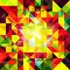 Abstract Colorful Geometric Grunge Background