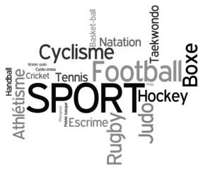 Nuage de mots sur le sport