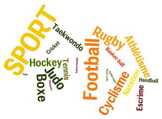 Nuage de mots en vrac sur la sport