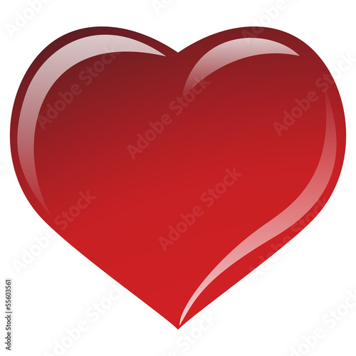 Heart red 01 - Valentin day - love vector -01