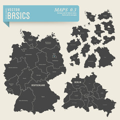 Germany and its federal states, Berlin and its boroughs