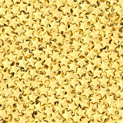 Background composed of many golden stars