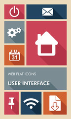 Colorful UI web apps user interface flat icons.
