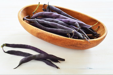 Purple wax snap bean